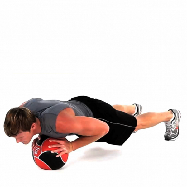 Reistance-Band-Medicine-Ball-Push-Ups-Exercise
