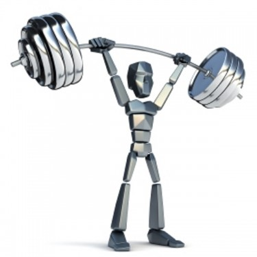 3d symbolic man hold heavy weight