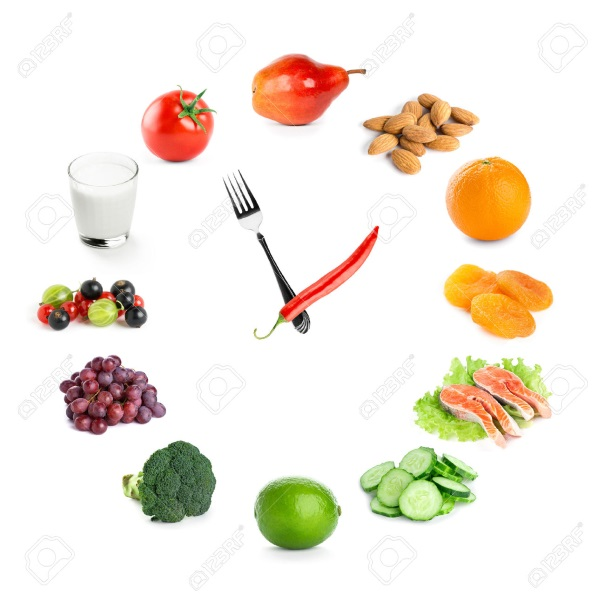 40823080-Clock-with-healthy-diet-food-Diet-concept-Stock-Photo-diet
